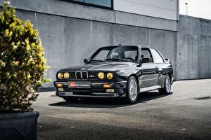 Картинки BMW Черный Купе E30 3-Series M3 Автомобили