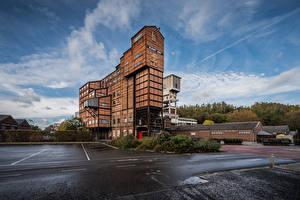 Фотографии Бельгия Небо Музеи Облако Blegny Mine, coal mine Города
