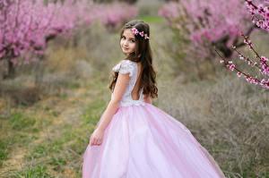 Картинка Боке Девочки Платья Взгляд