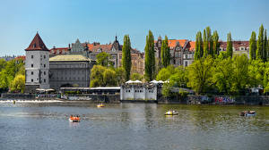 Фотографии Чехия Прага Дома Реки Города