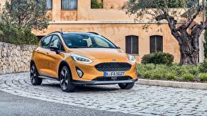 Фотография Форд Оранжевый Металлик Fiesta Active 2018 машины
