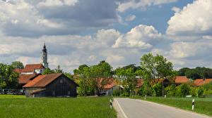Фото Германия Дома Бавария Поселок Drößling Seefeld Города