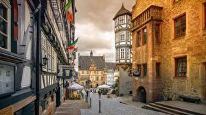 Фотографии Германия Дома Улиц Marburg, Hessen