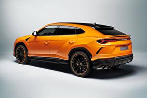 Фотография Lamborghini CUV Оранжевые Металлик Urus, Pearl Capsule, 2020 машины