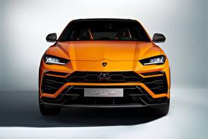 Фото Lamborghini Спереди Оранжевая Металлик CUV Urus, Pearl Capsule, 2020 машина
