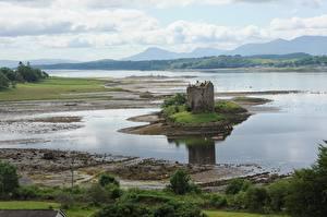 Фотография Шотландия Замки Озеро Castle Stalker, Loch of Lac