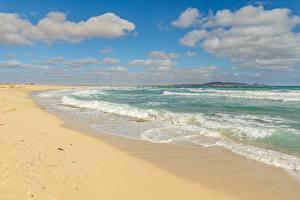 Обои Море Волны Небо Пляже Горизонта
