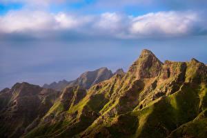 Обои Испания Горы Утес Облако Tenerife, Anaga Природа