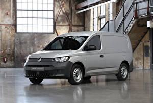 Фотография Volkswagen Серая Минивэн 2020 Caddy Maxi Kasten Prototype Автомобили