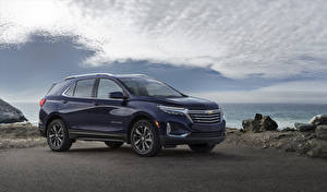Фотография Chevrolet Синие Металлик 2021 Equinox Premier машина