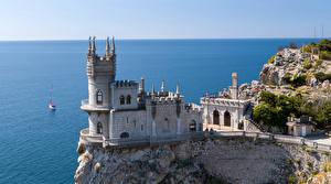 Фотография Крым Замок Памятники Россия Море Swallow's Nest
