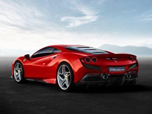 Картинки Ferrari Сзади Красная F8 Tributo авто