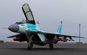 Обои Истребители Самолеты МиГ-35 Русские
