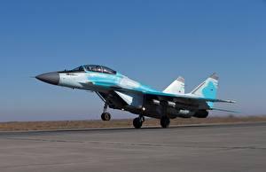 Картинка Самолеты Истребители МиГ-35 Взлетают Российские