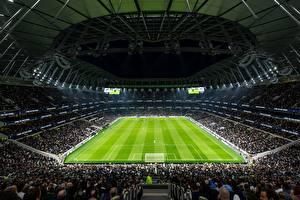 Фотографии Футбол Англия Стадион Лондон Tottenham Hotspur Stadium, New White Hart Lane