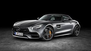 Картинка Mercedes-Benz Металлик Серые AMG GT машины