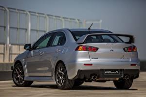 Фотографии Мицубиси Вид сзади Серый Металлик 2014, Lancer Evolution X Автомобили