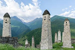 Фотографии Гора Россия Башня Erzyas, State nature reserve, Ingushetia город