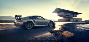 Фотографии Porsche Сбоку Серебристая Металлик 911 авто