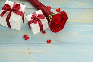 Картинка Роза Букет Подарок Доски Шаблон поздравительной открытки Бантики