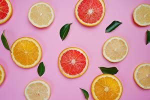 Обои для рабочего стола Текстура Лимоны Апельсин Цитрусовые Еда