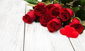 Фотография День всех влюблённых Красные Доски Шаблон поздравительной открытки Сердце цветок