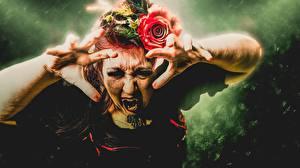 Фотография Вампиры Пальцы Руки Ужасные девушка
