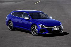 Картинка Volkswagen Синий Металлик Универсал Arteon, R-Line, Shooting Brake автомобиль