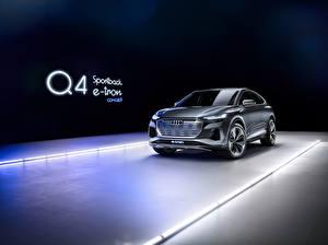 Картинки Ауди CUV Металлик Audi Q4 Sportback e-tron Concept, 2020