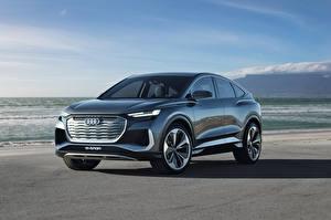Обои Ауди CUV Металлик Q4 Sportback e-tron Concept, 2020
