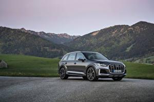 Фотографии Audi CUV Серые Металлик SQ7 TFSI, Worldwide, 2020 авто
