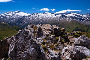 Фотографии Австрия Горы Камни Альпы Скалы Salzburg, Ankogel Природа