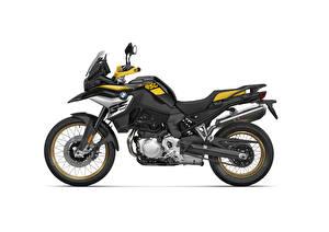 Картинка BMW - Мотоциклы Сбоку Белый фон F 850 GS Edition 40 Years GS, 2020