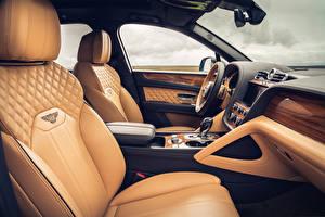 Фото Bentley Салоны Кроссовер Кожаный Bentayga V8, Worldwide, 2020 машины