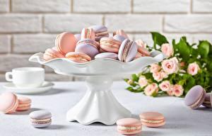 Фото Печенье Макарон Продукты питания