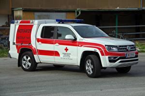 Картинки Скорая помощь Volkswagen Amarok, 2011, Ambulance Автомобили