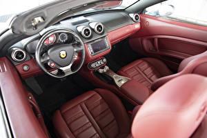 Фотография Ferrari Салоны Кожа материал Автомобильный руль California, North America, Pininfarina, 2009–12 авто