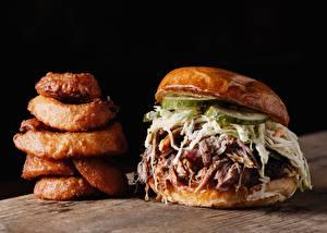 Картинка Гамбургер Вблизи Фастфуд Овощи