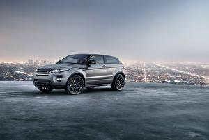Обои Land Rover Кроссовер Металлик Серая Evoque 2018 автомобиль