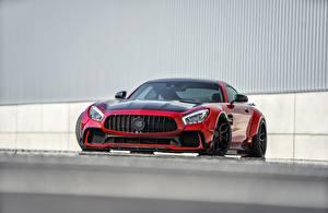 Обои Mercedes-Benz Спереди Красный Металлик AMG GT Автомобили картинки