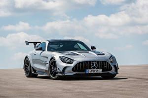 Картинка Mercedes-Benz Купе Серебристая Металлик GT Black Series, Worldwide, C190, 2020 авто