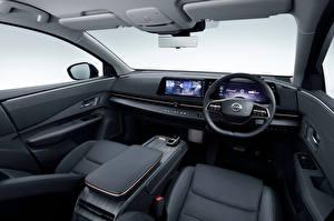 Картинки Nissan Салоны Кроссовер Автомобильный руль Ariya e-4orce JP-spec, 2020