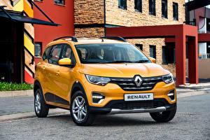 Картинки Renault Желтые Металлик 2020 Triber авто