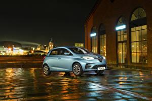 Обои Renault Голубой 2020 Zoe Автомобили картинки