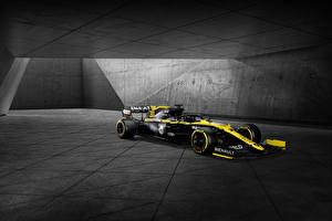 Картинки Renault Формула 1 Тюнинг Черный 2020 Renault R.S.20 машина Спорт