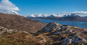 Фото Шотландия Гора Камни Bealach Na Gaoithe Природа