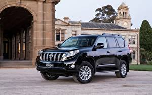 Обои Тойота SUV Металлик Черных Land Cruiser Prado Автомобили