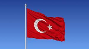 Картинки Турция Флаг Ветер