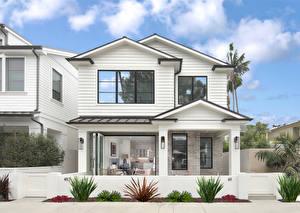 Фотографии США Дома Калифорнии Особняк Дизайна Newport Beach город