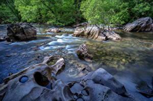 Картинка Великобритания Парки Леса Реки Камни Уэльс Snowdonia Природа